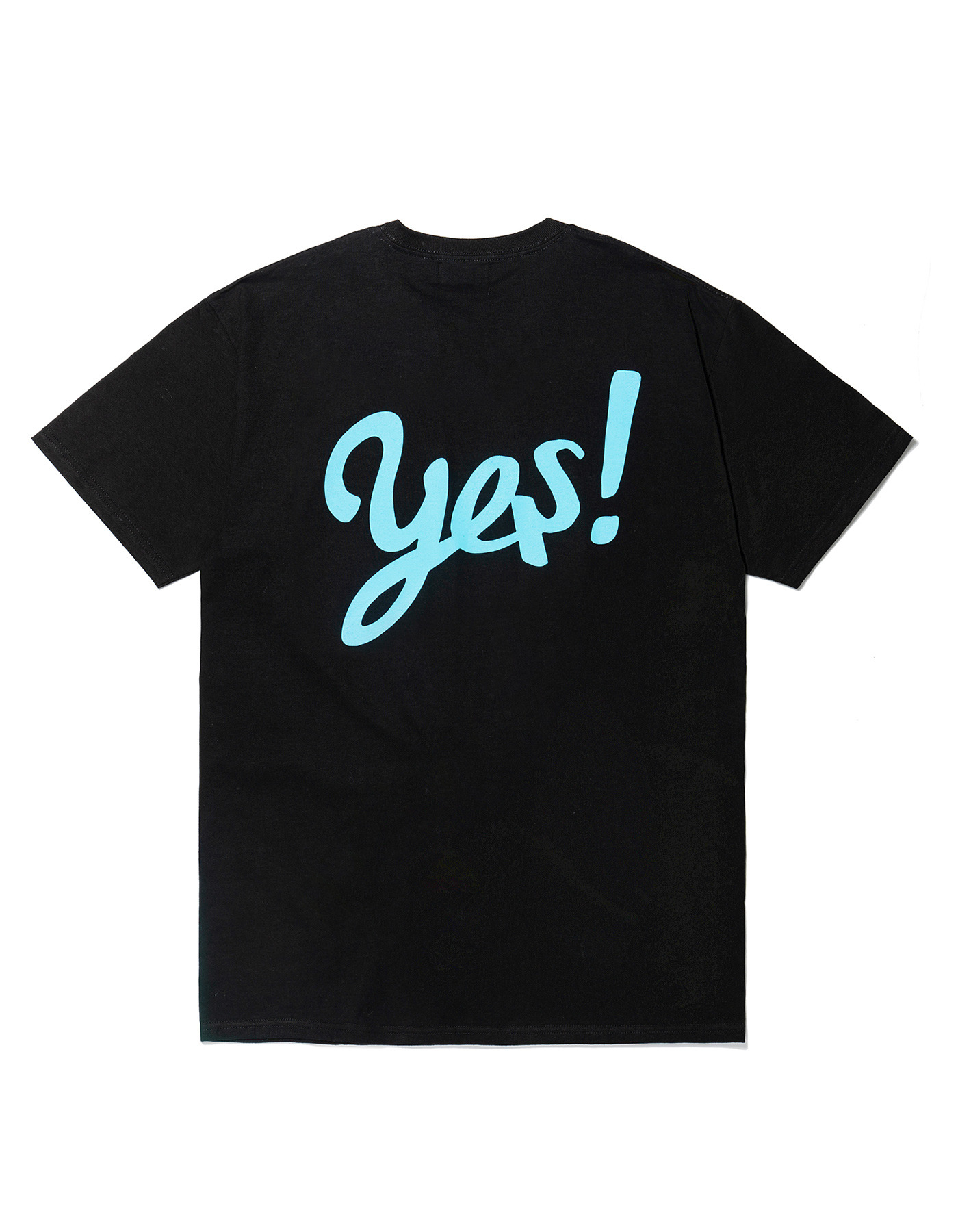 YES! T-shirts - Black/Sky blue
